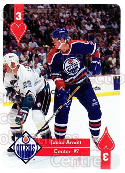 1995-96 Hoyle Western Playing Card #3 Jason Arnott<br/>6 In Stock - $2.00 each - <a href=https://centericecollectibles.foxycart.com/cart?name=1995-96%20Hoyle%20Western%20Playing%20Card%20%233%20Jason%20Arnott...&quantity_max=6&price=$2.00&code=40316 class=foxycart> Buy it now! </a>