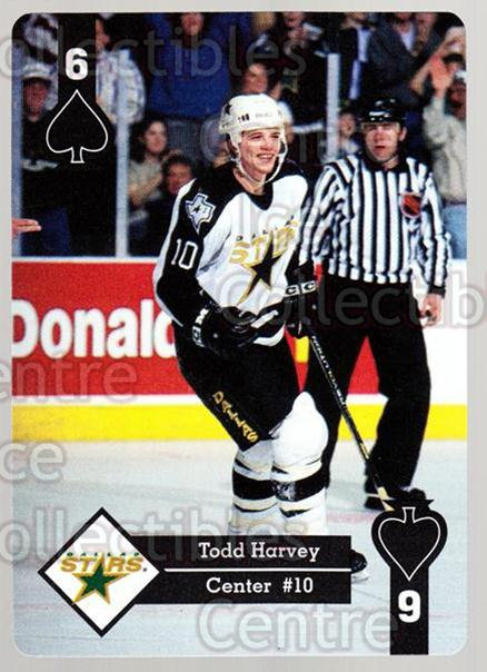 1995-96 Hoyle Western Playing Card #32 Todd Harvey<br/>7 In Stock - $2.00 each - <a href=https://centericecollectibles.foxycart.com/cart?name=1995-96%20Hoyle%20Western%20Playing%20Card%20%2332%20Todd%20Harvey...&quantity_max=7&price=$2.00&code=40319 class=foxycart> Buy it now! </a>