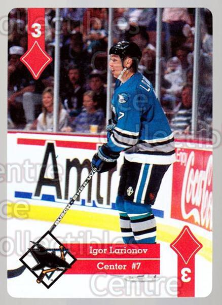 1995-96 Hoyle Western Playing Card #42 Igor Larionov<br/>5 In Stock - $2.00 each - <a href=https://centericecollectibles.foxycart.com/cart?name=1995-96%20Hoyle%20Western%20Playing%20Card%20%2342%20Igor%20Larionov...&quantity_max=5&price=$2.00&code=40328 class=foxycart> Buy it now! </a>