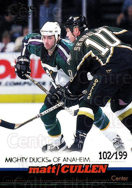 1999-00 Pacific Emerald #1 Matt Cullen<br/>1 In Stock - $3.00 each - <a href=https://centericecollectibles.foxycart.com/cart?name=1999-00%20Pacific%20Emerald%20%231%20Matt%20Cullen...&quantity_max=1&price=$3.00&code=403735 class=foxycart> Buy it now! </a>