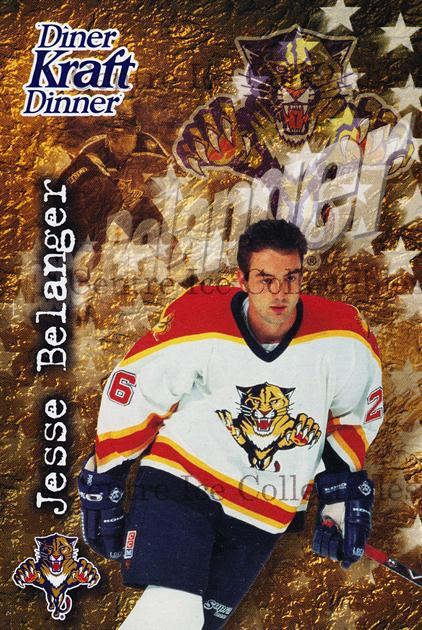 1995-96 Kraft Dinner #1 Jesse Belanger<br/>7 In Stock - $3.00 each - <a href=https://centericecollectibles.foxycart.com/cart?name=1995-96%20Kraft%20Dinner%20%231%20Jesse%20Belanger...&quantity_max=7&price=$3.00&code=40547 class=foxycart> Buy it now! </a>