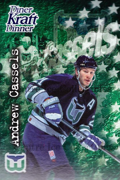 1995-96 Kraft Dinner #5 Andrew Cassels<br/>8 In Stock - $3.00 each - <a href=https://centericecollectibles.foxycart.com/cart?name=1995-96%20Kraft%20Dinner%20%235%20Andrew%20Cassels...&quantity_max=8&price=$3.00&code=40550 class=foxycart> Buy it now! </a>