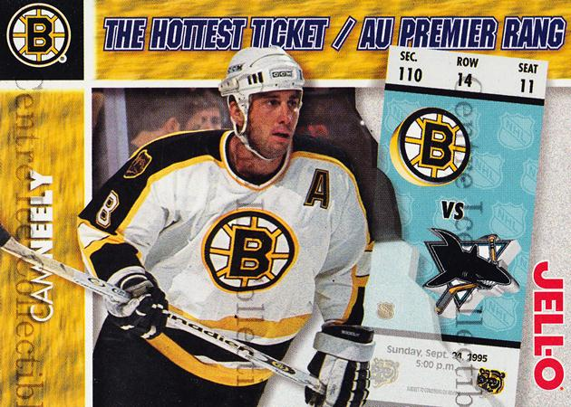 1995-96 Kraft Jell-O Hottest Tickets #11 Cam Neely<br/>4 In Stock - $3.00 each - <a href=https://centericecollectibles.foxycart.com/cart?name=1995-96%20Kraft%20Jell-O%20Hottest%20Tickets%20%2311%20Cam%20Neely...&quantity_max=4&price=$3.00&code=40557 class=foxycart> Buy it now! </a>