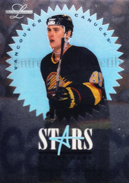 1995-96 Leaf Limited Stars of the Game #6 Alexander Mogilny<br/>8 In Stock - $3.00 each - <a href=https://centericecollectibles.foxycart.com/cart?name=1995-96%20Leaf%20Limited%20Stars%20of%20the%20Game%20%236%20Alexander%20Mogil...&quantity_max=8&price=$3.00&code=40608 class=foxycart> Buy it now! </a>