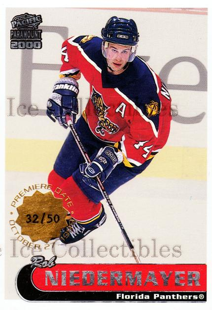 1999-00 Paramount Premiere Date #103 Rob Niedermayer<br/>1 In Stock - $5.00 each - <a href=https://centericecollectibles.foxycart.com/cart?name=1999-00%20Paramount%20Premiere%20Date%20%23103%20Rob%20Niedermayer...&quantity_max=1&price=$5.00&code=406283 class=foxycart> Buy it now! </a>