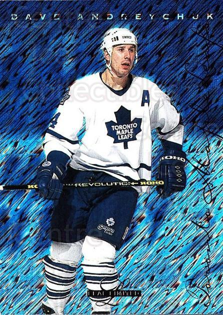 1995-96 Leaf Limited #21 Dave Andreychuk<br/>6 In Stock - $1.00 each - <a href=https://centericecollectibles.foxycart.com/cart?name=1995-96%20Leaf%20Limited%20%2321%20Dave%20Andreychuk...&quantity_max=6&price=$1.00&code=40639 class=foxycart> Buy it now! </a>