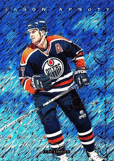1995-96 Leaf Limited #22 Jason Arnott<br/>7 In Stock - $1.00 each - <a href=https://centericecollectibles.foxycart.com/cart?name=1995-96%20Leaf%20Limited%20%2322%20Jason%20Arnott...&quantity_max=7&price=$1.00&code=40640 class=foxycart> Buy it now! </a>