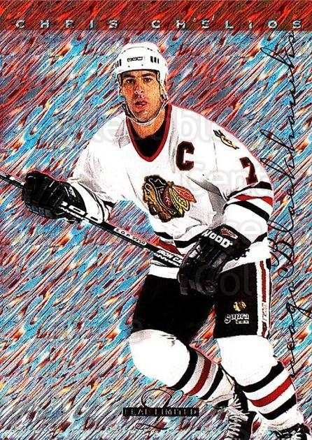 1995-96 Leaf Limited #40 Chris Chelios<br/>7 In Stock - $1.00 each - <a href=https://centericecollectibles.foxycart.com/cart?name=1995-96%20Leaf%20Limited%20%2340%20Chris%20Chelios...&quantity_max=7&price=$1.00&code=40659 class=foxycart> Buy it now! </a>
