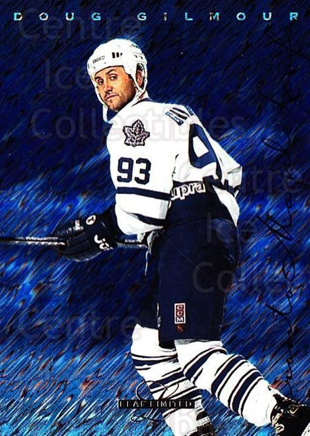 1995-96 Leaf Limited #72 Doug Gilmour<br/>2 In Stock - $1.00 each - <a href=https://centericecollectibles.foxycart.com/cart?name=1995-96%20Leaf%20Limited%20%2372%20Doug%20Gilmour...&quantity_max=2&price=$1.00&code=40690 class=foxycart> Buy it now! </a>