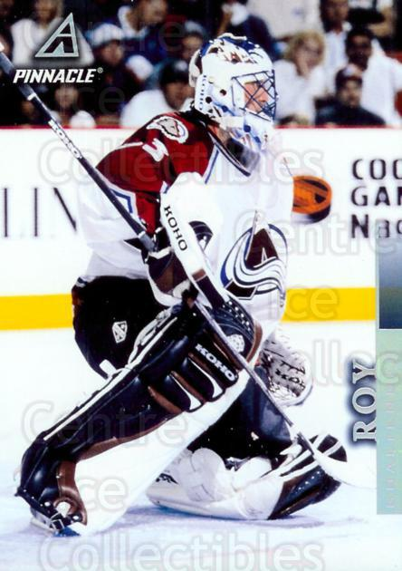 1997-98 Pinnacle Power Pack Blow-Ups #5 Patrick Roy<br/>1 In Stock - $5.00 each - <a href=https://centericecollectibles.foxycart.com/cart?name=1997-98%20Pinnacle%20Power%20Pack%20Blow-Ups%20%235%20Patrick%20Roy...&price=$5.00&code=407441 class=foxycart> Buy it now! </a>