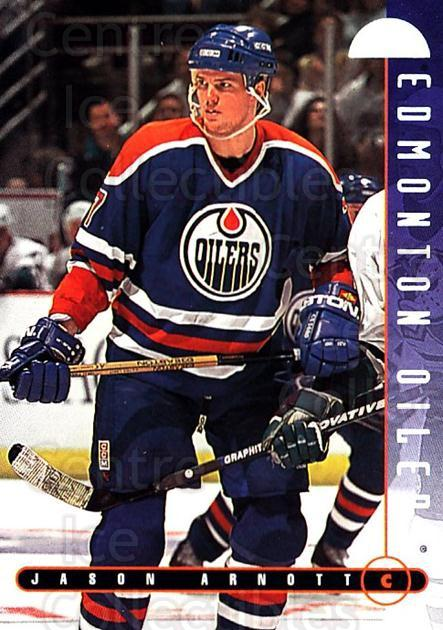 1995-96 Leaf #119 Jason Arnott<br/>5 In Stock - $1.00 each - <a href=https://centericecollectibles.foxycart.com/cart?name=1995-96%20Leaf%20%23119%20Jason%20Arnott...&quantity_max=5&price=$1.00&code=40754 class=foxycart> Buy it now! </a>