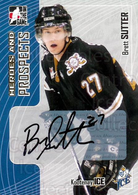 2005-06 ITG Heroes and Prospects Auto #ABS Brett Sutter<br/>2 In Stock - $5.00 each - <a href=https://centericecollectibles.foxycart.com/cart?name=2005-06%20ITG%20Heroes%20and%20Prospects%20Auto%20%23ABS%20Brett%20Sutter...&price=$5.00&code=407939 class=foxycart> Buy it now! </a>