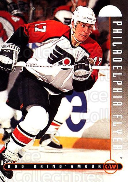 1995-96 Leaf #154 Rod Brind'Amour<br/>4 In Stock - $1.00 each - <a href=https://centericecollectibles.foxycart.com/cart?name=1995-96%20Leaf%20%23154%20Rod%20Brind'Amour...&quantity_max=4&price=$1.00&code=40793 class=foxycart> Buy it now! </a>