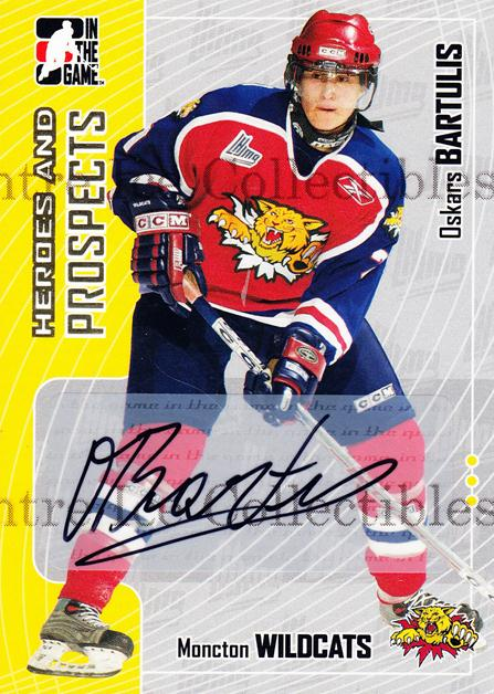 2005-06 ITG Heroes and Prospects Auto #AOB Oksars Bartulis<br/>1 In Stock - $5.00 each - <a href=https://centericecollectibles.foxycart.com/cart?name=2005-06%20ITG%20Heroes%20and%20Prospects%20Auto%20%23AOB%20Oksars%20Bartulis...&quantity_max=1&price=$5.00&code=408043 class=foxycart> Buy it now! </a>