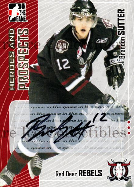 2005-06 ITG Heroes and Prospects Auto Series Two #BSU Brandon Sutter<br/>1 In Stock - $5.00 each - <a href=https://centericecollectibles.foxycart.com/cart?name=2005-06%20ITG%20Heroes%20and%20Prospects%20Auto%20Series%20Two%20%23BSU%20Brandon%20Sutter...&price=$5.00&code=408120 class=foxycart> Buy it now! </a>