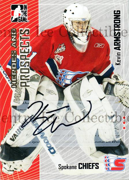 2005-06 ITG Heroes and Prospects Auto Series Two #KA Kevin Armstrong<br/>2 In Stock - $5.00 each - <a href=https://centericecollectibles.foxycart.com/cart?name=2005-06%20ITG%20Heroes%20and%20Prospects%20Auto%20Series%20Two%20%23KA%20Kevin%20Armstrong...&quantity_max=2&price=$5.00&code=408195 class=foxycart> Buy it now! </a>