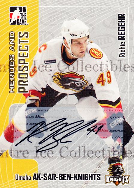2005-06 ITG Heroes and Prospects Auto Update #ARRG Richie Regehr<br/>1 In Stock - $5.00 each - <a href=https://centericecollectibles.foxycart.com/cart?name=2005-06%20ITG%20Heroes%20and%20Prospects%20Auto%20Update%20%23ARRG%20Richie%20Regehr...&quantity_max=1&price=$5.00&code=408316 class=foxycart> Buy it now! </a>