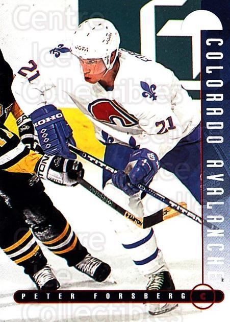 1995-96 Leaf #20 Peter Forsberg<br/>5 In Stock - $1.00 each - <a href=https://centericecollectibles.foxycart.com/cart?name=1995-96%20Leaf%20%2320%20Peter%20Forsberg...&quantity_max=5&price=$1.00&code=40843 class=foxycart> Buy it now! </a>