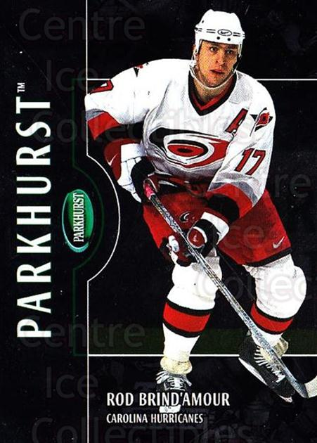 2002-03 Parkhurst Silver #1 Rod Brind'Amour<br/>1 In Stock - $5.00 each - <a href=https://centericecollectibles.foxycart.com/cart?name=2002-03%20Parkhurst%20Silver%20%231%20Rod%20Brind'Amour...&quantity_max=1&price=$5.00&code=408849 class=foxycart> Buy it now! </a>