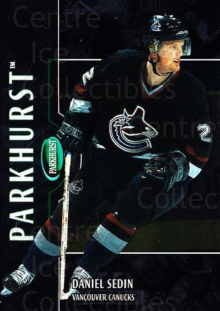 2002-03 Parkhurst Silver #167 Daniel Sedin<br/>1 In Stock - $5.00 each - <a href=https://centericecollectibles.foxycart.com/cart?name=2002-03%20Parkhurst%20Silver%20%23167%20Daniel%20Sedin...&price=$5.00&code=408916 class=foxycart> Buy it now! </a>