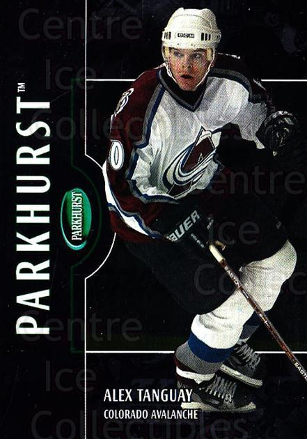 2002-03 Parkhurst Silver #45 Alex Tanguay<br/>1 In Stock - $5.00 each - <a href=https://centericecollectibles.foxycart.com/cart?name=2002-03%20Parkhurst%20Silver%20%2345%20Alex%20Tanguay...&quantity_max=1&price=$5.00&code=408983 class=foxycart> Buy it now! </a>