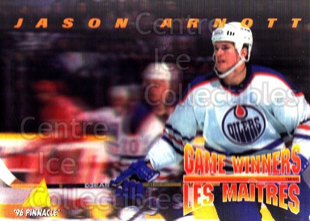 1995-96 McDonalds Pinnacle #14 Jason Arnott<br/>9 In Stock - $1.00 each - <a href=https://centericecollectibles.foxycart.com/cart?name=1995-96%20McDonalds%20Pinnacle%20%2314%20Jason%20Arnott...&quantity_max=9&price=$1.00&code=40900 class=foxycart> Buy it now! </a>