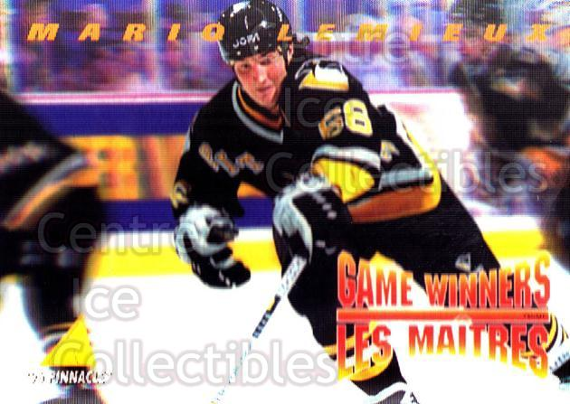 1995-96 McDonalds Pinnacle #15 Mario Lemieux<br/>6 In Stock - $2.00 each - <a href=https://centericecollectibles.foxycart.com/cart?name=1995-96%20McDonalds%20Pinnacle%20%2315%20Mario%20Lemieux...&quantity_max=6&price=$2.00&code=40901 class=foxycart> Buy it now! </a>