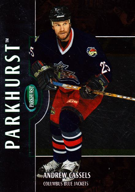 2002-03 Parkhurst Bronze #181 Andrew Cassels<br/>2 In Stock - $5.00 each - <a href=https://centericecollectibles.foxycart.com/cart?name=2002-03%20Parkhurst%20Bronze%20%23181%20Andrew%20Cassels...&quantity_max=2&price=$5.00&code=409057 class=foxycart> Buy it now! </a>
