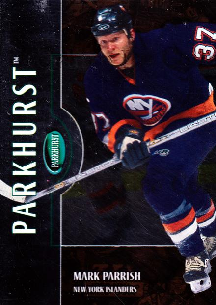2002-03 Parkhurst Bronze #19 Mark Parrish<br/>1 In Stock - $5.00 each - <a href=https://centericecollectibles.foxycart.com/cart?name=2002-03%20Parkhurst%20Bronze%20%2319%20Mark%20Parrish...&quantity_max=1&price=$5.00&code=409058 class=foxycart> Buy it now! </a>