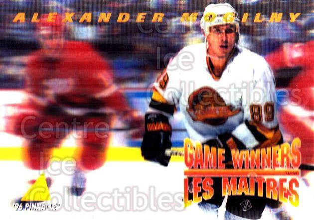 1995-96 McDonalds Pinnacle #21 Alexander Mogilny<br/>9 In Stock - $1.00 each - <a href=https://centericecollectibles.foxycart.com/cart?name=1995-96%20McDonalds%20Pinnacle%20%2321%20Alexander%20Mogil...&quantity_max=9&price=$1.00&code=40907 class=foxycart> Buy it now! </a>