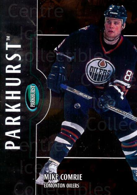 2002-03 Parkhurst Bronze #56 Mike Comrie<br/>1 In Stock - $5.00 each - <a href=https://centericecollectibles.foxycart.com/cart?name=2002-03%20Parkhurst%20Bronze%20%2356%20Mike%20Comrie...&quantity_max=1&price=$5.00&code=409085 class=foxycart> Buy it now! </a>