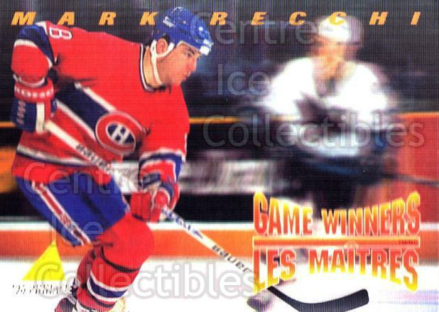 1995-96 McDonalds Pinnacle #24 Mark Recchi<br/>7 In Stock - $1.00 each - <a href=https://centericecollectibles.foxycart.com/cart?name=1995-96%20McDonalds%20Pinnacle%20%2324%20Mark%20Recchi...&quantity_max=7&price=$1.00&code=40910 class=foxycart> Buy it now! </a>