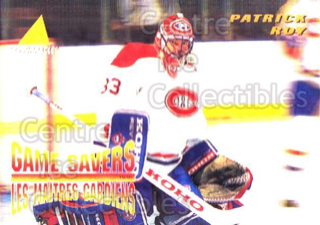 1995-96 McDonalds Pinnacle #25 Patrick Roy<br/>9 In Stock - $3.00 each - <a href=https://centericecollectibles.foxycart.com/cart?name=1995-96%20McDonalds%20Pinnacle%20%2325%20Patrick%20Roy...&quantity_max=9&price=$3.00&code=40911 class=foxycart> Buy it now! </a>