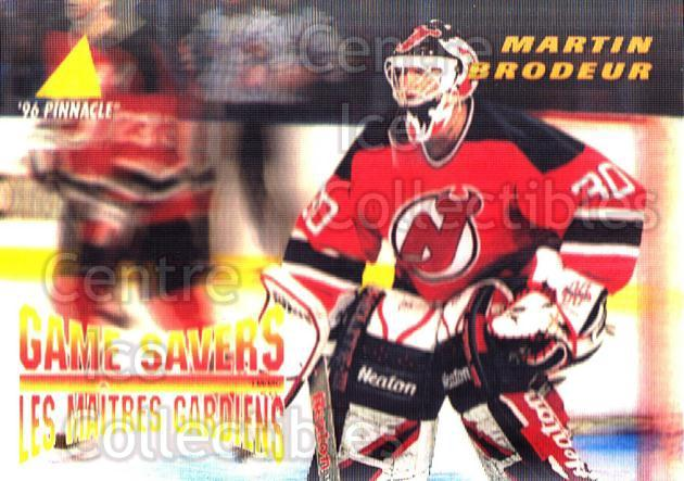 1995-96 McDonald's Pinnacle #27 Martin Brodeur<br/>2 In Stock - $1.00 each - <a href=https://centericecollectibles.foxycart.com/cart?name=1995-96%20McDonald's%20Pinnacle%20%2327%20Martin%20Brodeur...&price=$1.00&code=40912 class=foxycart> Buy it now! </a>