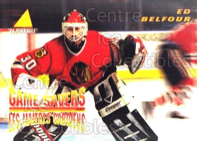 1995-96 McDonalds Pinnacle #29 Ed Belfour<br/>5 In Stock - $1.00 each - <a href=https://centericecollectibles.foxycart.com/cart?name=1995-96%20McDonalds%20Pinnacle%20%2329%20Ed%20Belfour...&price=$1.00&code=40914 class=foxycart> Buy it now! </a>
