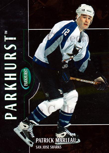 2002-03 Parkhurst Bronze #147 Patrick Marleau<br/>3 In Stock - $5.00 each - <a href=https://centericecollectibles.foxycart.com/cart?name=2002-03%20Parkhurst%20Bronze%20%23147%20Patrick%20Marleau...&quantity_max=3&price=$5.00&code=409213 class=foxycart> Buy it now! </a>