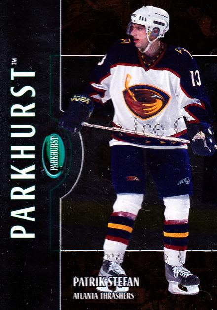 2002-03 Parkhurst Bronze #17 Patrik Stefan<br/>1 In Stock - $5.00 each - <a href=https://centericecollectibles.foxycart.com/cart?name=2002-03%20Parkhurst%20Bronze%20%2317%20Patrik%20Stefan...&quantity_max=1&price=$5.00&code=409235 class=foxycart> Buy it now! </a>