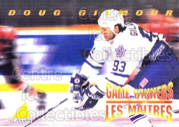 1995-96 McDonalds Pinnacle #9 Doug Gilmour<br/>9 In Stock - $1.00 each - <a href=https://centericecollectibles.foxycart.com/cart?name=1995-96%20McDonalds%20Pinnacle%20%239%20Doug%20Gilmour...&quantity_max=9&price=$1.00&code=40932 class=foxycart> Buy it now! </a>