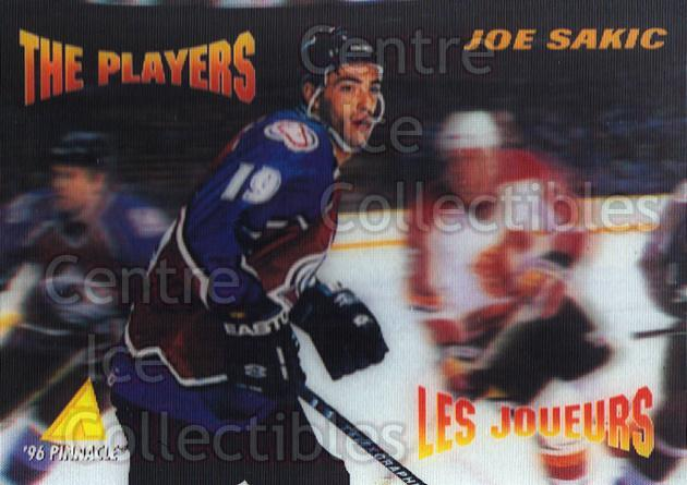 1995-96 McDonalds Pinnacle #41 Joe Sakic, Checklist<br/>13 In Stock - $1.00 each - <a href=https://centericecollectibles.foxycart.com/cart?name=1995-96%20McDonalds%20Pinnacle%20%2341%20Joe%20Sakic,%20Chec...&price=$1.00&code=40933 class=foxycart> Buy it now! </a>