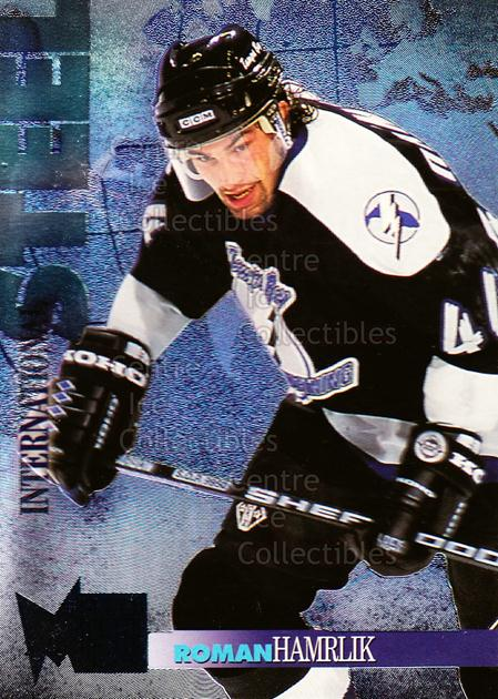 1995-96 Metal International Steel #6 Roman Hamrlik<br/>7 In Stock - $2.00 each - <a href=https://centericecollectibles.foxycart.com/cart?name=1995-96%20Metal%20International%20Steel%20%236%20Roman%20Hamrlik...&quantity_max=7&price=$2.00&code=40949 class=foxycart> Buy it now! </a>