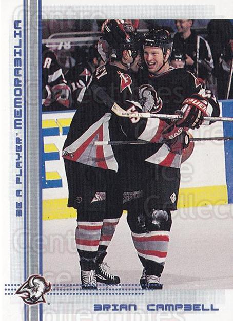 2000-01 BAP Memorabilia Sapphire #92 Brian Campbell<br/>2 In Stock - $5.00 each - <a href=https://centericecollectibles.foxycart.com/cart?name=2000-01%20BAP%20Memorabilia%20Sapphire%20%2392%20Brian%20Campbell...&quantity_max=2&price=$5.00&code=410650 class=foxycart> Buy it now! </a>