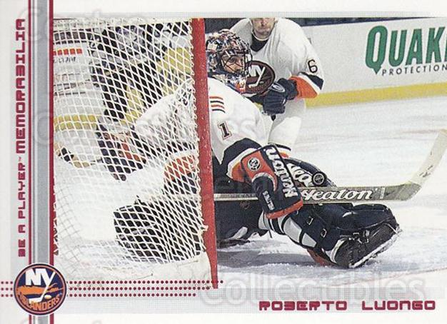 2000-01 BAP Memorabilia Ruby #163 Roberto Luongo<br/>2 In Stock - $5.00 each - <a href=https://centericecollectibles.foxycart.com/cart?name=2000-01%20BAP%20Memorabilia%20Ruby%20%23163%20Roberto%20Luongo...&quantity_max=2&price=$5.00&code=410792 class=foxycart> Buy it now! </a>