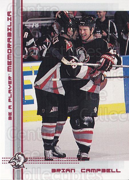 2000-01 BAP Memorabilia Ruby #92 Brian Campbell<br/>2 In Stock - $3.00 each - <a href=https://centericecollectibles.foxycart.com/cart?name=2000-01%20BAP%20Memorabilia%20Ruby%20%2392%20Brian%20Campbell...&quantity_max=2&price=$3.00&code=411171 class=foxycart> Buy it now! </a>