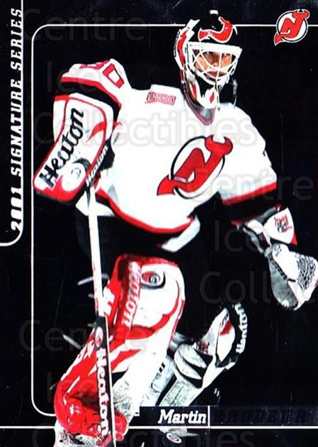 2000-01 BAP Signature Series #164 Martin Brodeur<br/>1 In Stock - $3.00 each - <a href=https://centericecollectibles.foxycart.com/cart?name=2000-01%20BAP%20Signature%20Series%20%23164%20Martin%20Brodeur...&quantity_max=1&price=$3.00&code=411341 class=foxycart> Buy it now! </a>