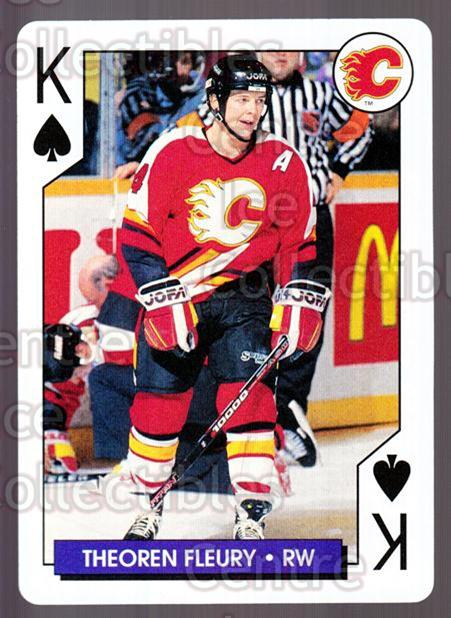 1995-96 NHL Aces Playing Card #52 Theo Fleury<br/>9 In Stock - $2.00 each - <a href=https://centericecollectibles.foxycart.com/cart?name=1995-96%20NHL%20Aces%20Playing%20Card%20%2352%20Theo%20Fleury...&quantity_max=9&price=$2.00&code=41162 class=foxycart> Buy it now! </a>