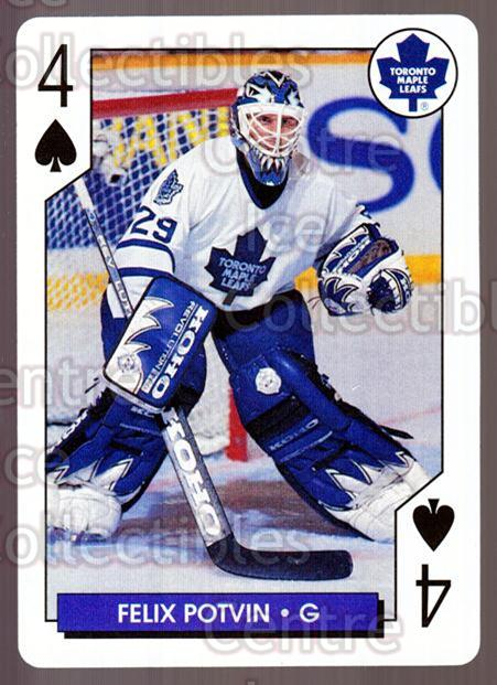 1995-96 NHL Aces Playing Card #43 Felix Potvin<br/>9 In Stock - $2.00 each - <a href=https://centericecollectibles.foxycart.com/cart?name=1995-96%20NHL%20Aces%20Playing%20Card%20%2343%20Felix%20Potvin...&quantity_max=9&price=$2.00&code=41175 class=foxycart> Buy it now! </a>