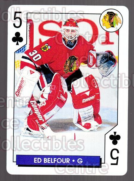 1995-96 NHL Aces Playing Card #5 Ed Belfour<br/>6 In Stock - $2.00 each - <a href=https://centericecollectibles.foxycart.com/cart?name=1995-96%20NHL%20Aces%20Playing%20Card%20%235%20Ed%20Belfour...&price=$2.00&code=41176 class=foxycart> Buy it now! </a>