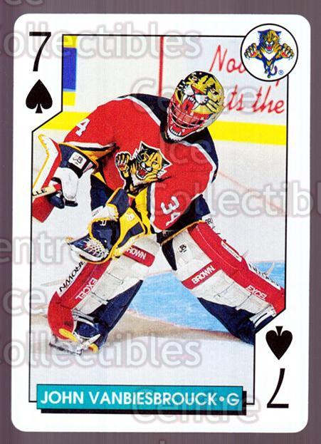 1995-96 NHL Aces Playing Card #46 John Vanbiesbrouck<br/>7 In Stock - $2.00 each - <a href=https://centericecollectibles.foxycart.com/cart?name=1995-96%20NHL%20Aces%20Playing%20Card%20%2346%20John%20Vanbiesbro...&quantity_max=7&price=$2.00&code=41187 class=foxycart> Buy it now! </a>