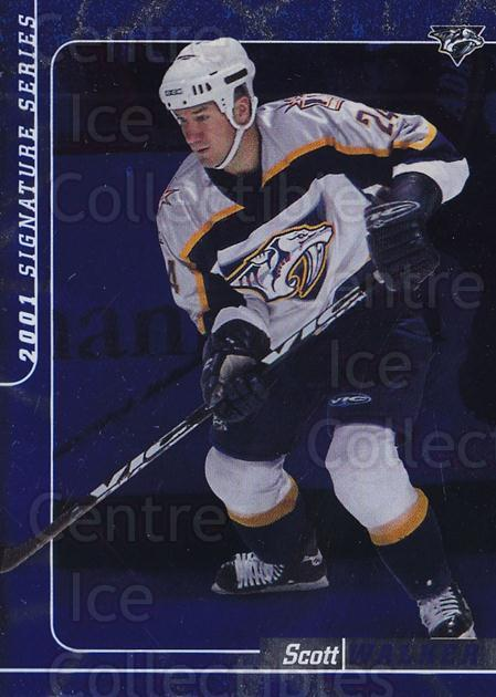 2000-01 BAP Signature Series Sapphire #4 Scott Walker<br/>2 In Stock - $5.00 each - <a href=https://centericecollectibles.foxycart.com/cart?name=2000-01%20BAP%20Signature%20Series%20Sapphire%20%234%20Scott%20Walker...&quantity_max=2&price=$5.00&code=411893 class=foxycart> Buy it now! </a>