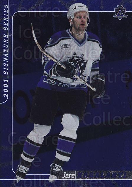 2000-01 BAP Signature Series Sapphire #27 Jere Karalahti<br/>2 In Stock - $5.00 each - <a href=https://centericecollectibles.foxycart.com/cart?name=2000-01%20BAP%20Signature%20Series%20Sapphire%20%2327%20Jere%20Karalahti...&quantity_max=2&price=$5.00&code=411916 class=foxycart> Buy it now! </a>